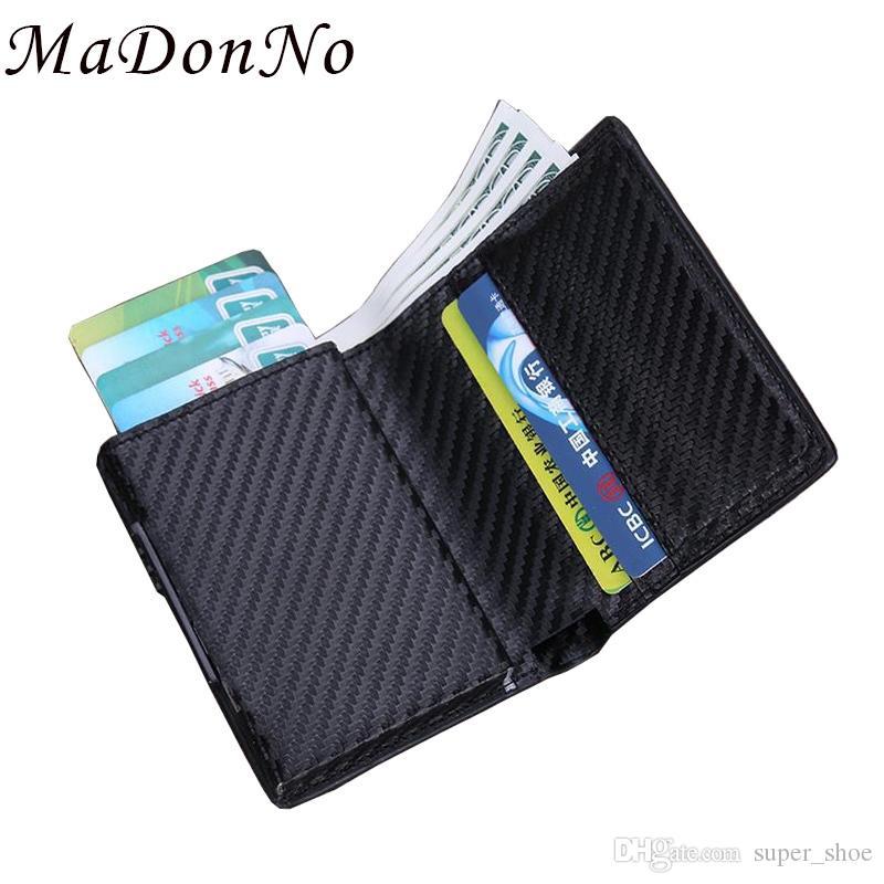 Card & Id Holders Rfid Card Holder Men Wallets Money Bag Male Vintage Black Short Purse 2018 Small Leather Slim Wallets Mini Wallets Magic