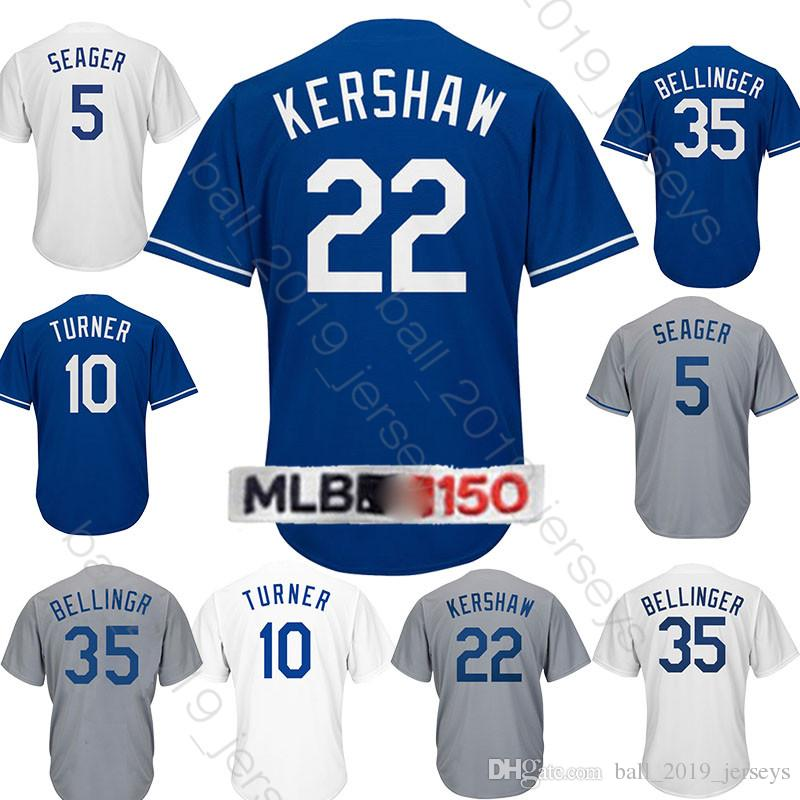 best sneakers 2d5ac 33492 22 Clayton Kershaw jersey Dodgers jerseys 10 Justin Turner 5 Corey Seager  23 Adrian Gonzalez hot sale jersey