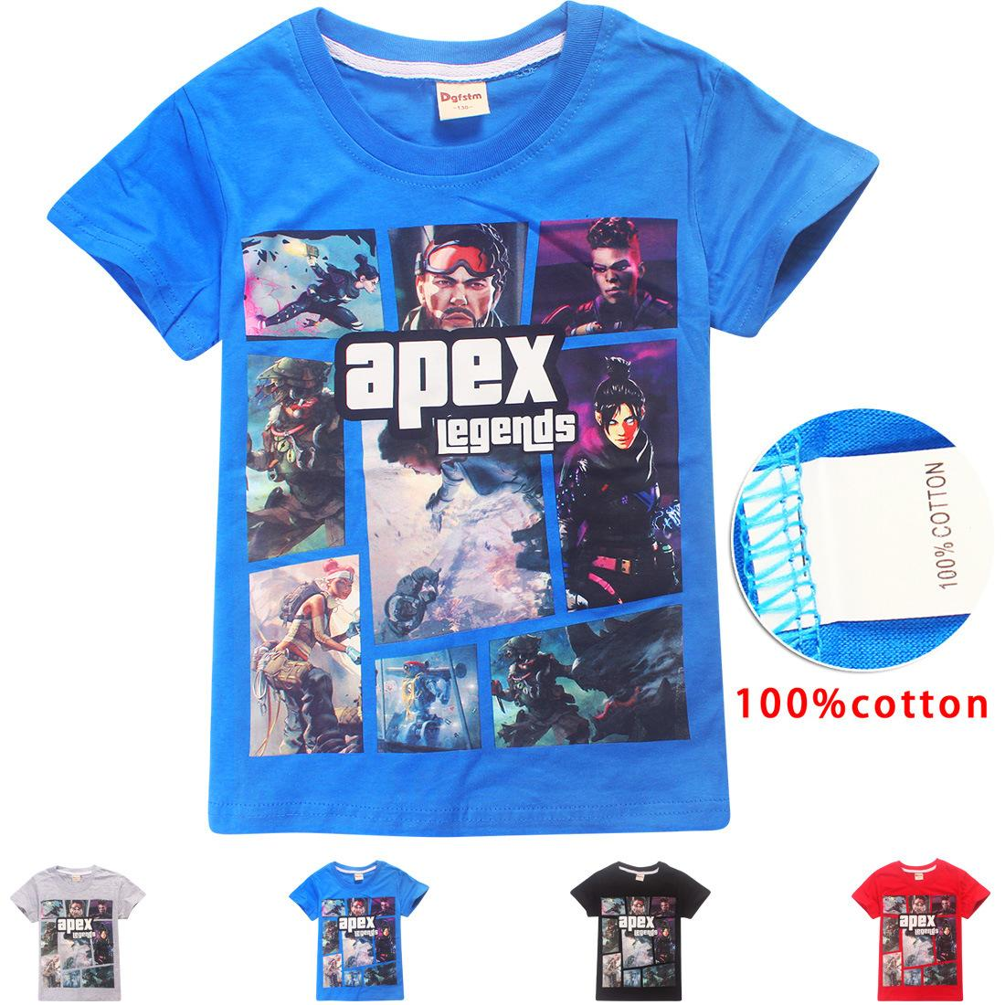 224509392d2ae Acheter T Shirt En Pur Coton Légendes D apex Pour Garçons Et Filles De 6 À 14  Ans De  30.16 Du Beloveddoll