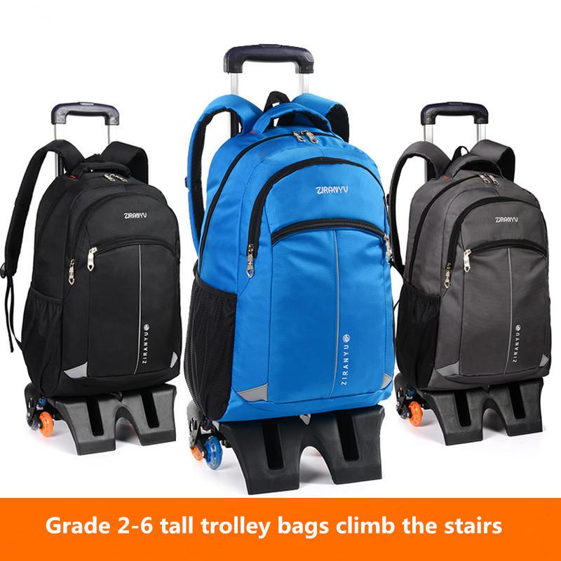 e26ee0d98372 Latest Removable Children School Bags 6 Wheels Can Climb The Stairs Kids  Boys Girls Backpacks Trolley Schoolbag Luggage Book BagGFCHK