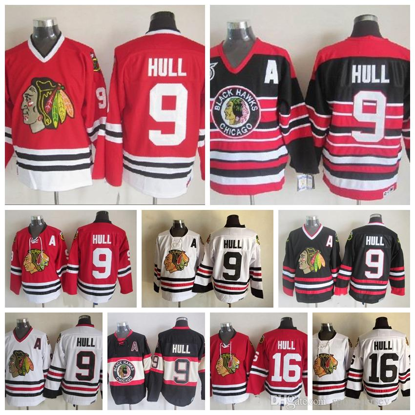 54a0d2419 ... 2019 high quality vintage 16 bobby hull jersey home red 75th  anniversary classic chicago blackhawks bobby