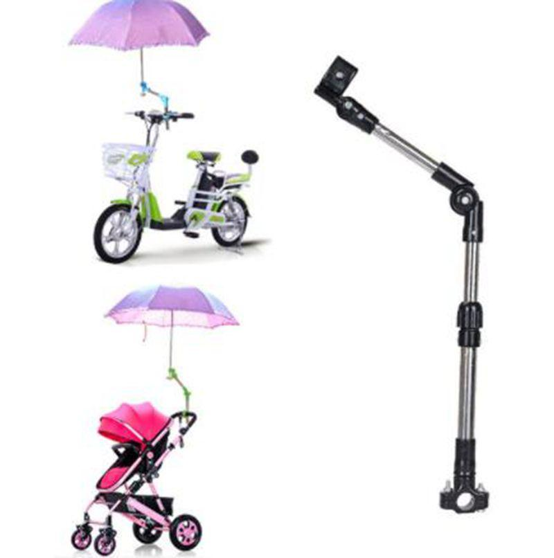 Adjustable Bike Bicycle Umbrella Holder Mount Stand Wheelchair Stroller Chair Umbrella Bar Stretch Stand Support KKA6380