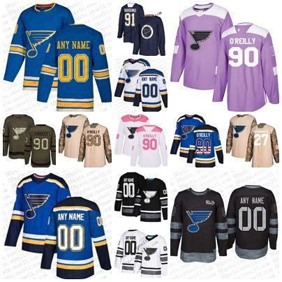 6376f953eac Custom 91 Vladimir Tarasenko 4xl-6xl 2019 Stanley Cup Final St ...