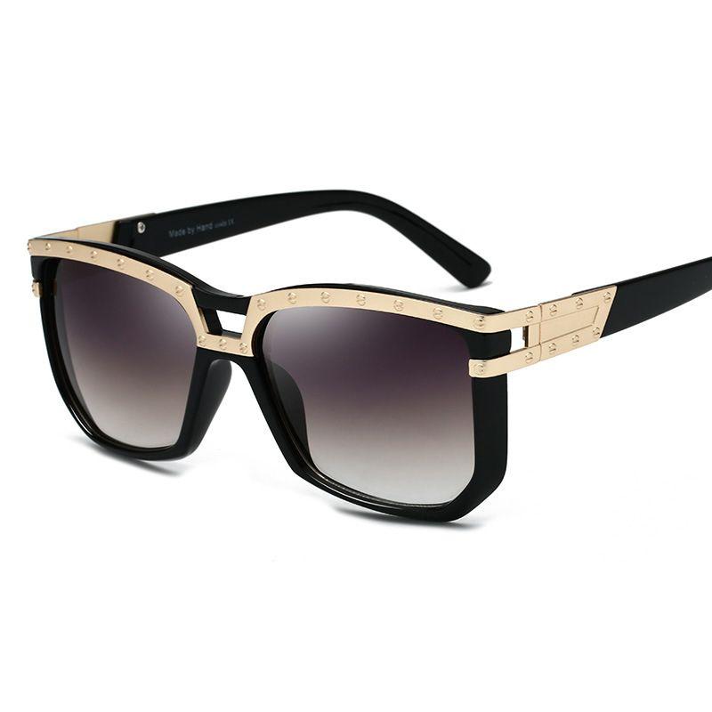 e2c18a6302d Brand Designer Women Men Oversized Frame Square Sunglasses Female Black Lens  Sun Glasses Summer Shades 2019 Trend Fastrack Sunglasses Smith Sunglasses  From ...