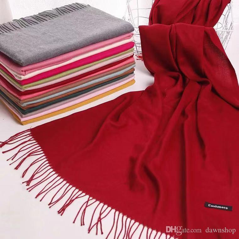 dd318d9db447 Cashmere Winter Scarf For Men And Women 2017 Plain Warm Men Scarf Women New  Fashion Designer Basic Shawls Women s Scarves and Wraps