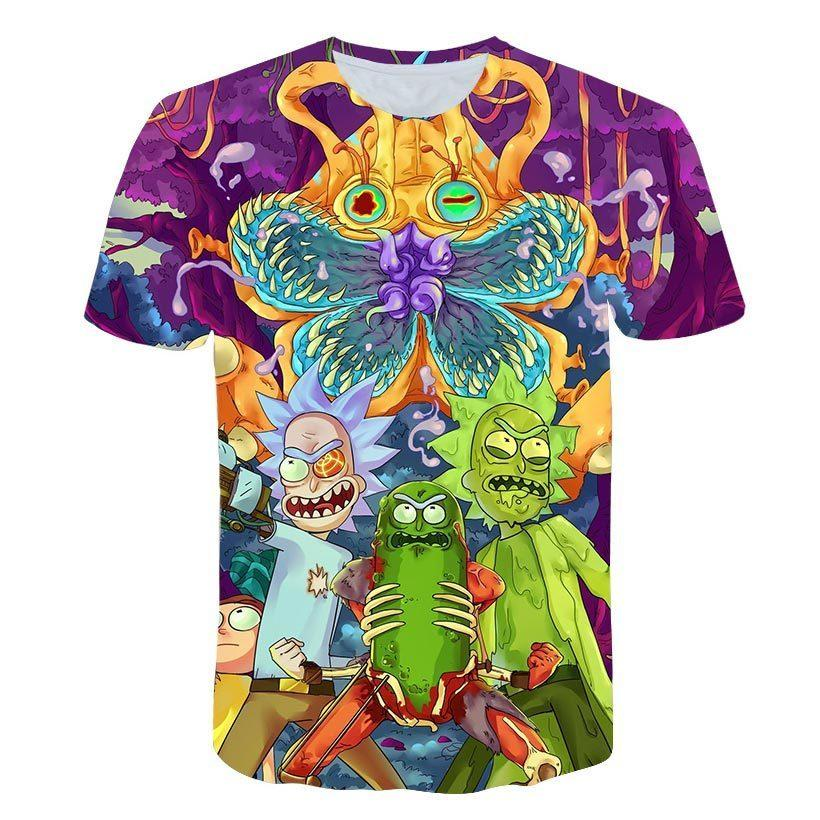 9f230fd9 2019 New Brand Rick And Morty T Shirt 3d Anime T Shirts Funny T Shirts  Chinese Printed Mens Tee Male Clothing Sexy Tops T Shirt Purchase Tee Shirt  A Day ...