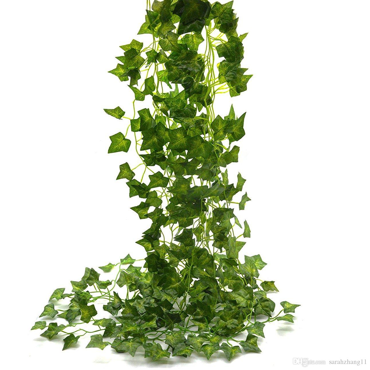 Ivy Leaves 85Ft 12 Strands Artificial Fake Leaves Hanging Vines Plant Leaves Garland Home Garden Poison