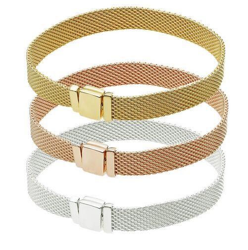 528f892a9 2019 2018 Reflections Bracelet 100% 925 Sterling Silver Popular Bracelets  Fit Pandora Reflections Clip Charm For Women Men Gift Fine Jewelry From ...