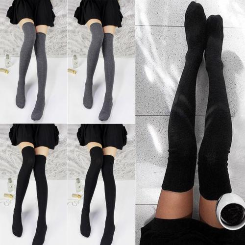 fb98fa11c8d90 Women Girl Over The Knee Long Socks Braided Knit Warm Soft Thigh High  Stockings Christmas Decorations On Sale Christmas Decorations On Sale Online  From ...