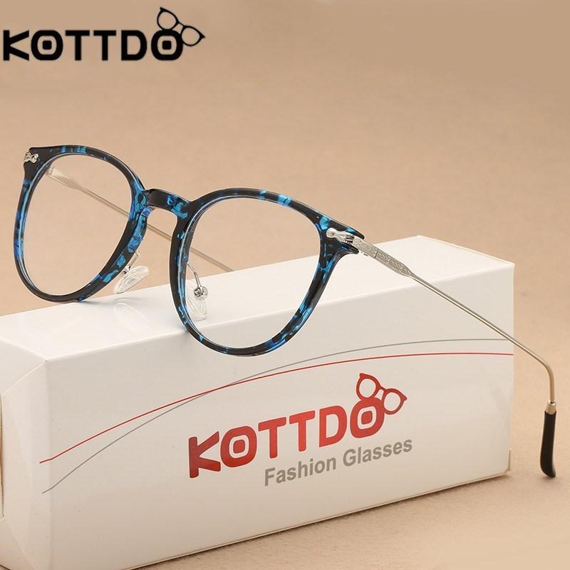 174c1280f0f 2019 KOTTDO Eyeglasses Frames Women 2018 Glasses Frame Round Eyeglasses Men  Reading Glasses Optical Eyewear From Marquesechriss