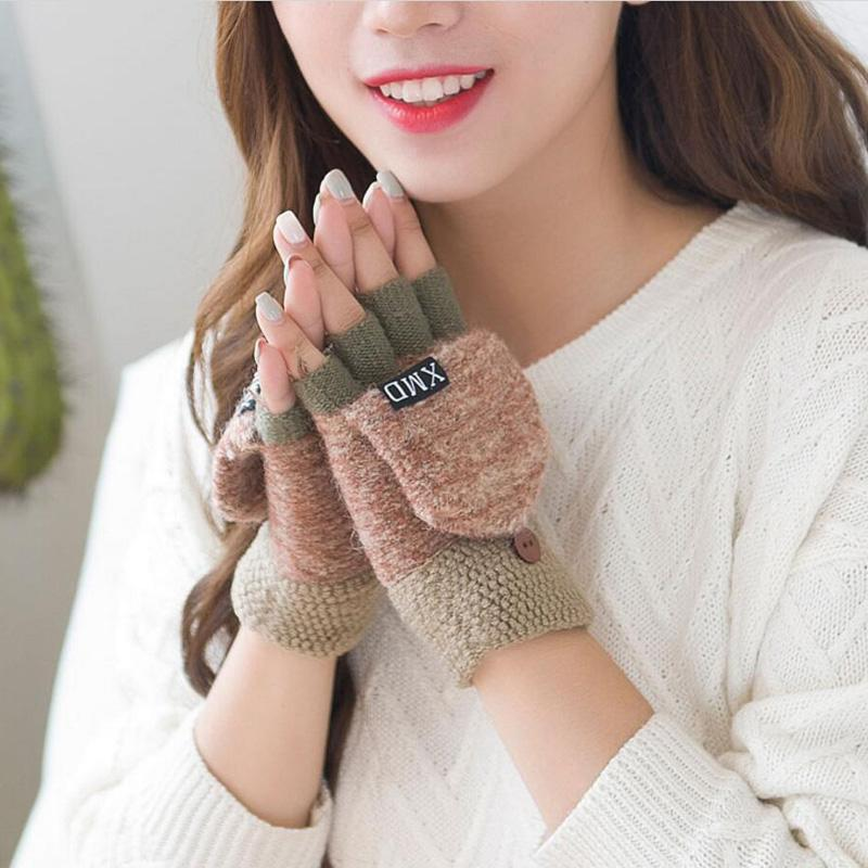 Back To Search Resultsapparel Accessories Useful Black Short Half Finger Fingerless Wool Knit Wrist Glove Winter Warm Workout For Women And Men 2018 New Fashion Beautiful And Charming