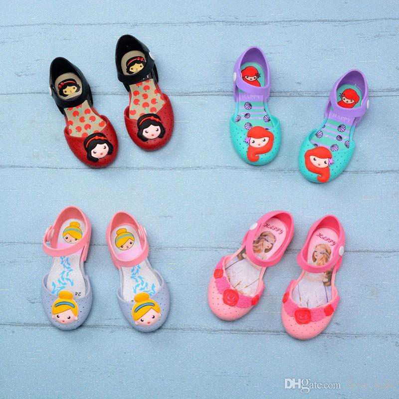 2019 Summer baby girl sandals cartoon mermaid kids sandal non-slip PVC Soft bottom girls summer shoes