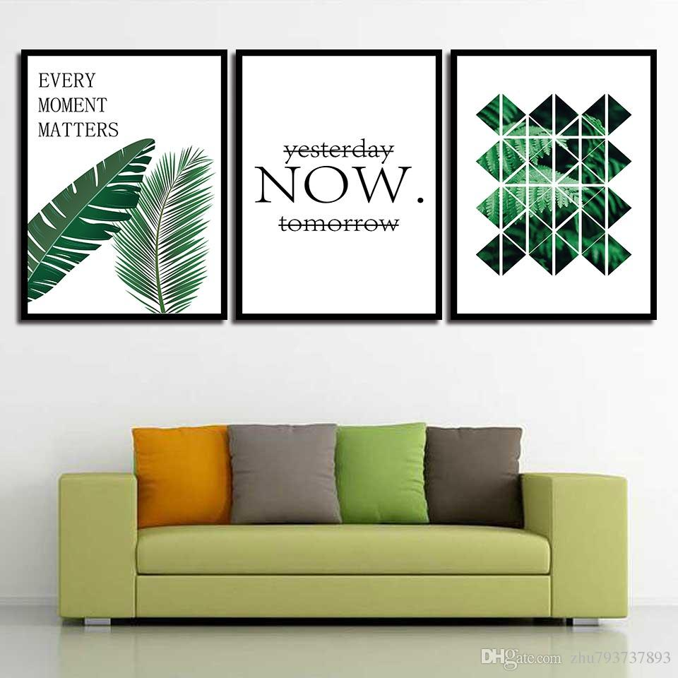 Painting HD Wall Art Prints Minimalism Green Planet Letter Nordic Poster Canvas Pictures Living Room Kids Room Home Decor