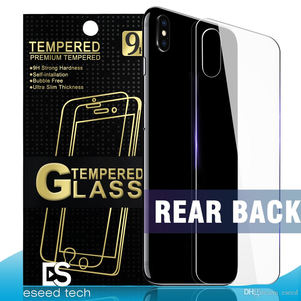 Rear Back Tempered Glass For NEW Iphone XR XS MAX Back Cover Screen Protector Film 2.5D 9H Anti-shatter With Paper Package