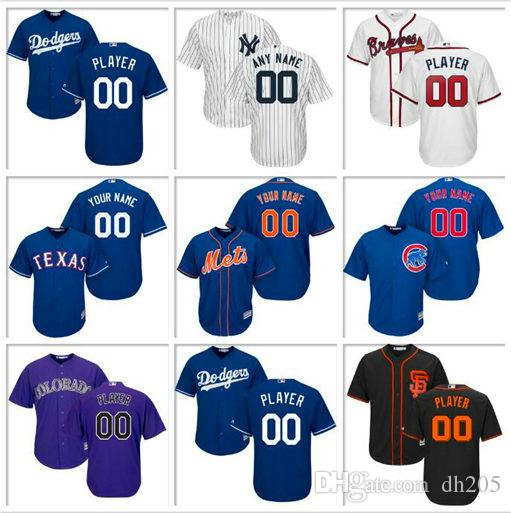 Custom Mens Baseball Jersey Tampa Bay Rays Toronto Blue Jays Milwaukee Brewers Boston Red Sox Houston Astros Sports cool base jerseys size