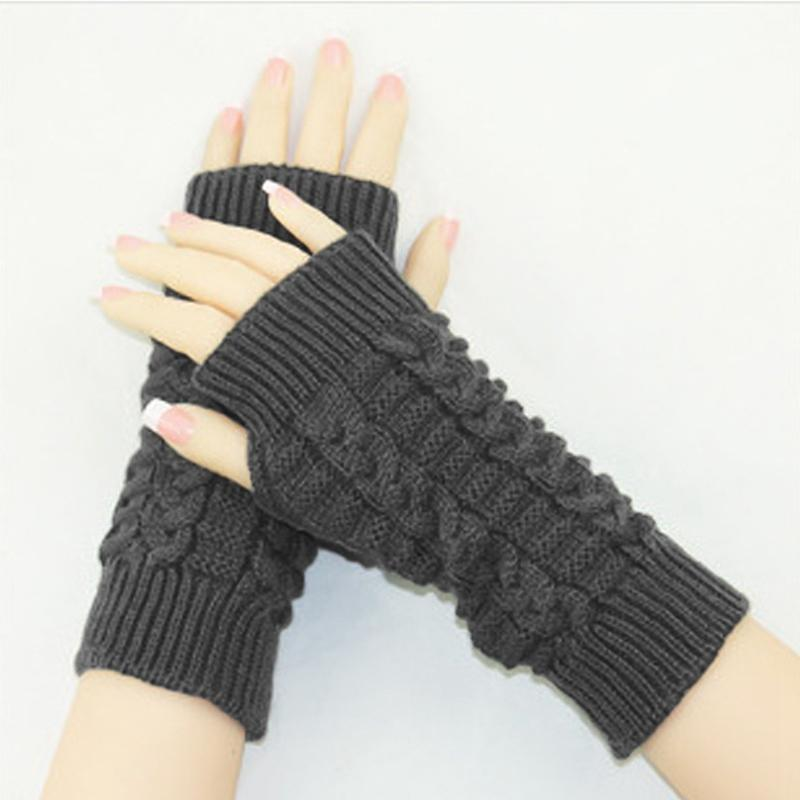 4c1a30025447 2019 2019 New Fashion Knitted Arm Fingerless Gloves Women Unisex ...