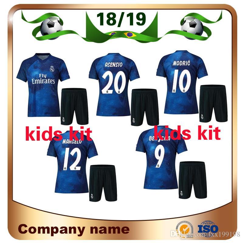 Compre 2019 Real Madrid Kids Kit Edição Especial Camisa De Futebol 18 19  Estrelado Azul EA SPORTS MODELO MARCELO ASENSI ISCO Criança Camisa De  Futebol ... 6b33b22f0f706