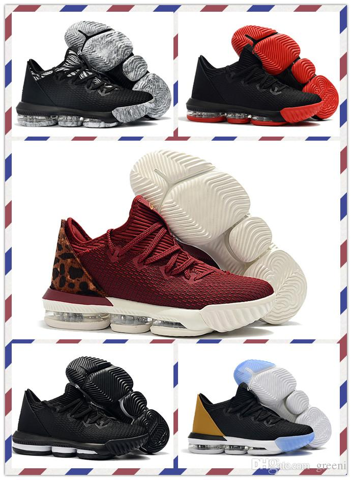 promo code 1cab6 21618 2019 2019 New Release Lebron 16 Low Soundtrack Mens Basketball Shoes Jame  16s King Black Red White Trainer Sports Sneakers With Box From Greeni, ...