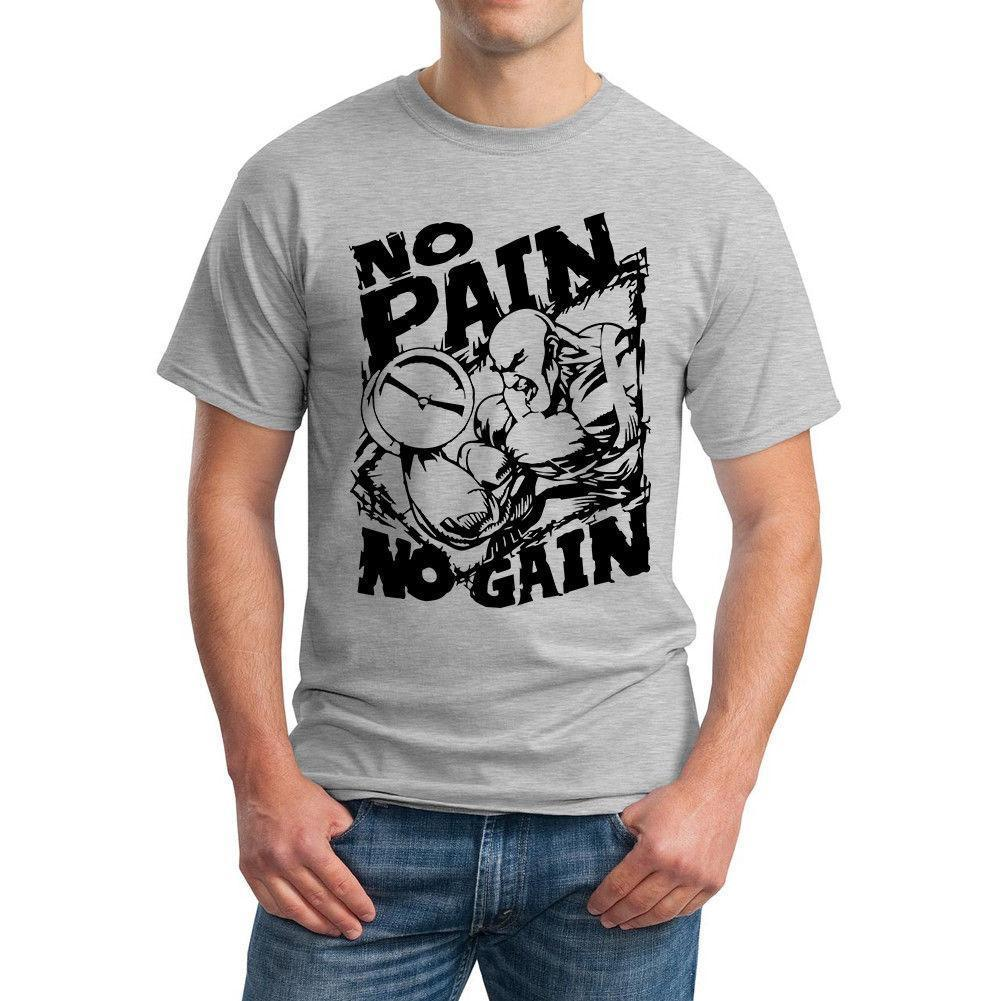 1d7b3ce95 Gym Funny T Shirt No Pain No Gain Awesome Tshirt Designs 10 T Shirts From  Discount6, $11.73| DHgate.Com