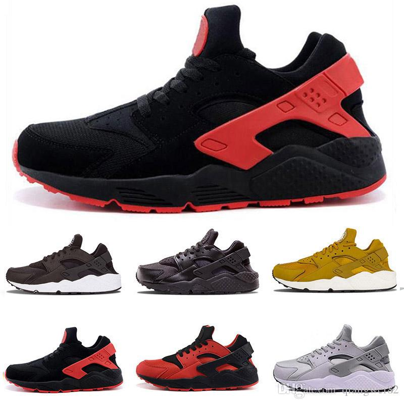 4aeb355f7821 2019 Huarache 1.0 4.0 Designer Men Sneakers Women Triple White Black Red  Grey Rose Gold Huaraches Trainers Sports Running Shoes Size 36 45 From  Qiangwei82