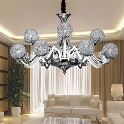 Lampadario LED europeo soggiorno dopo il lampadario moderno illuminazione  minimalista sala da pranzo camera da letto lampadario in acrilico
