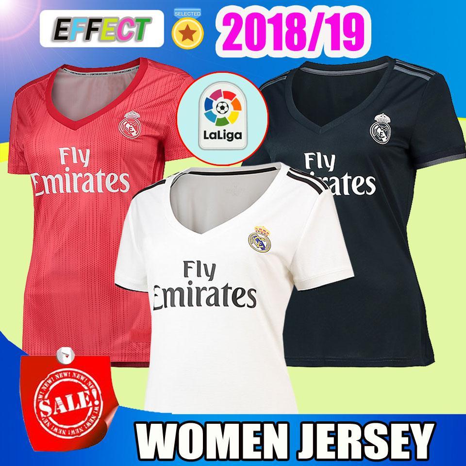 5fe5ef75c136d Camiseta De Fútbol MODRIC Para Mujer 2018 2019 Real Madrid Lady SERGIO  RAMOS BALE MARIANO ASENSIO ISCO NAVAS Kits De Camiseta De Fútbol VINICIUS  JR Girl Por ...