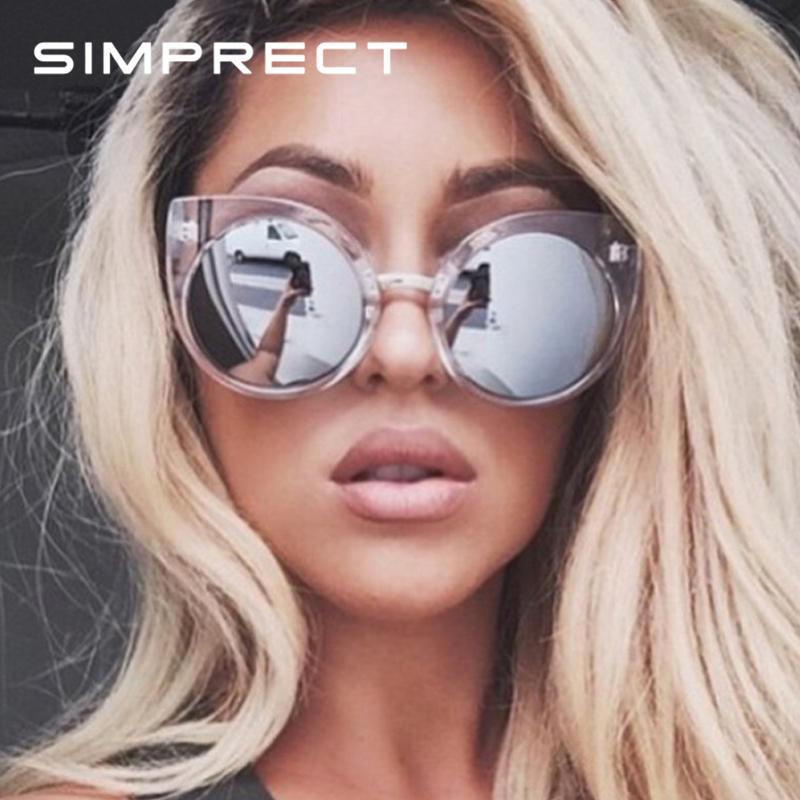 Women Designer 2019 Fashion Vintage Mirror Sun Glasses Retro Eye Simprect Brand De Round Cat Sunglasses Lunette Soleil Femme lu1cKTFJ35