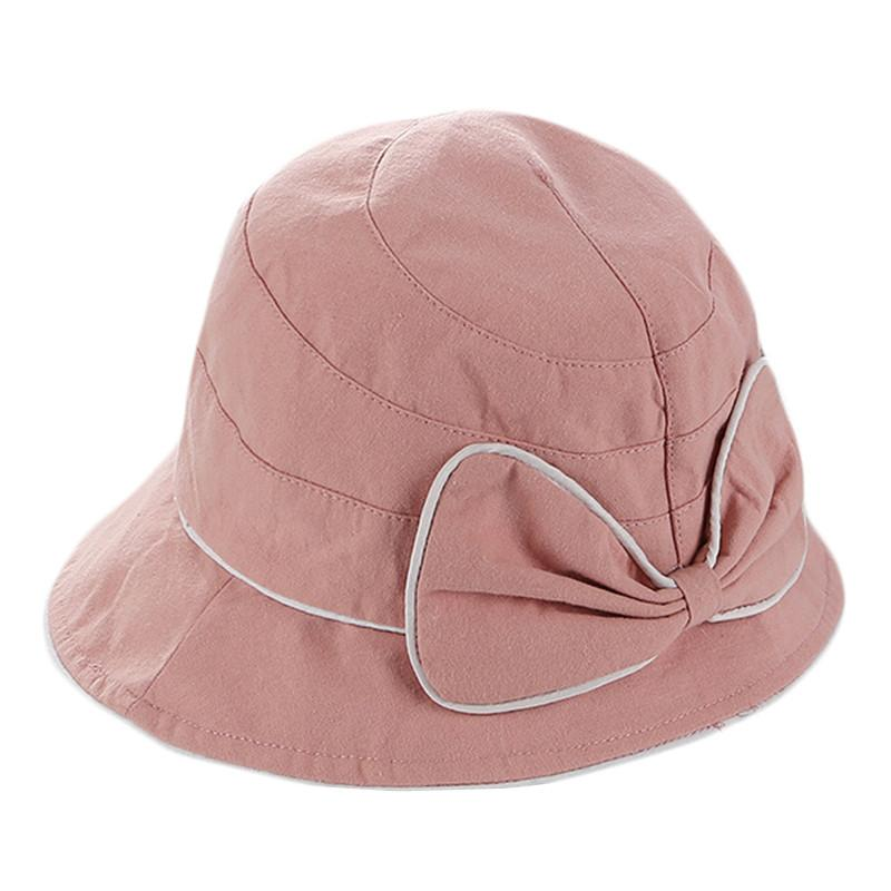 086ef982dd7 New Women Srpring Summer Bow Beach Hat Sun Hats Female Travel Cap Elegant  Wide Brim Sun Fisherman Hats Ladies Foldable Cloth Cap Sun Hats Cheap Sun  Hats New ...