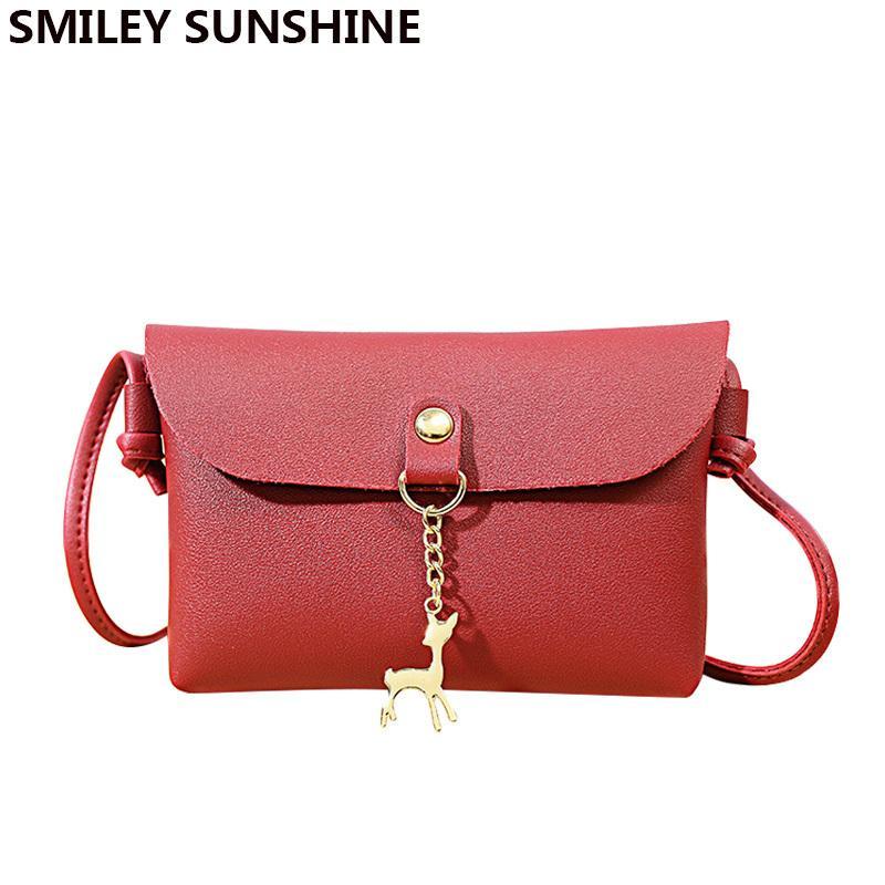 55054fd01c Cheap Fashion SMILEY SUNSHINE Shell Women Messenger Bags High Quality Cross  Body Bag PU Leather Mini Female Crossbody Shoulder Bag Handbags Messenger  Bags ...