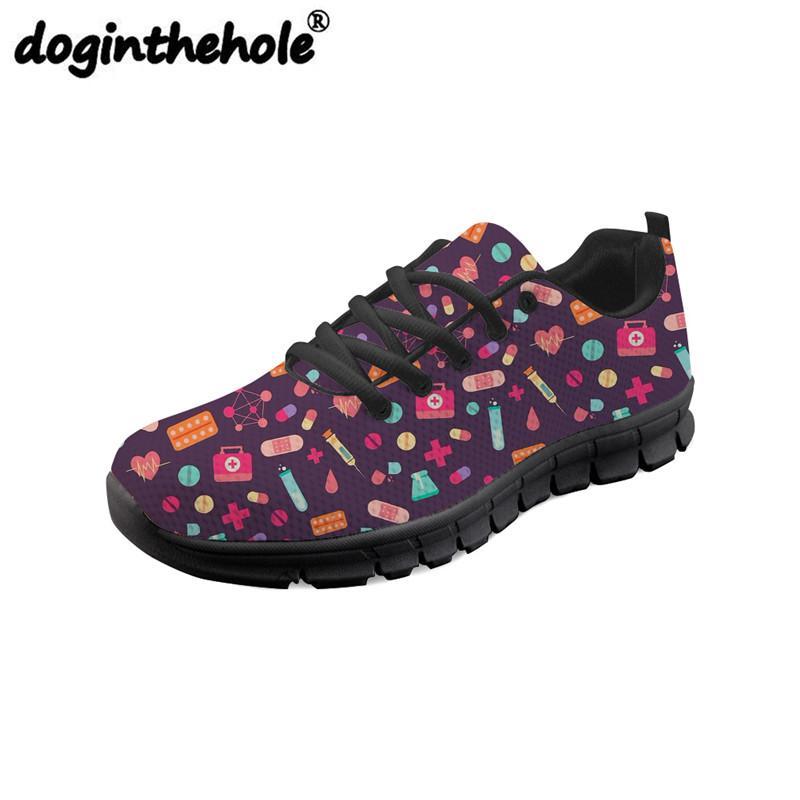 Zapatos Al Libre Enfermera Deporte Aire Médicas De Zapatillas Deportes Gimnasio Correr Píldoras Planas Doginthehole Para Mujeres vw8PyNn0Om