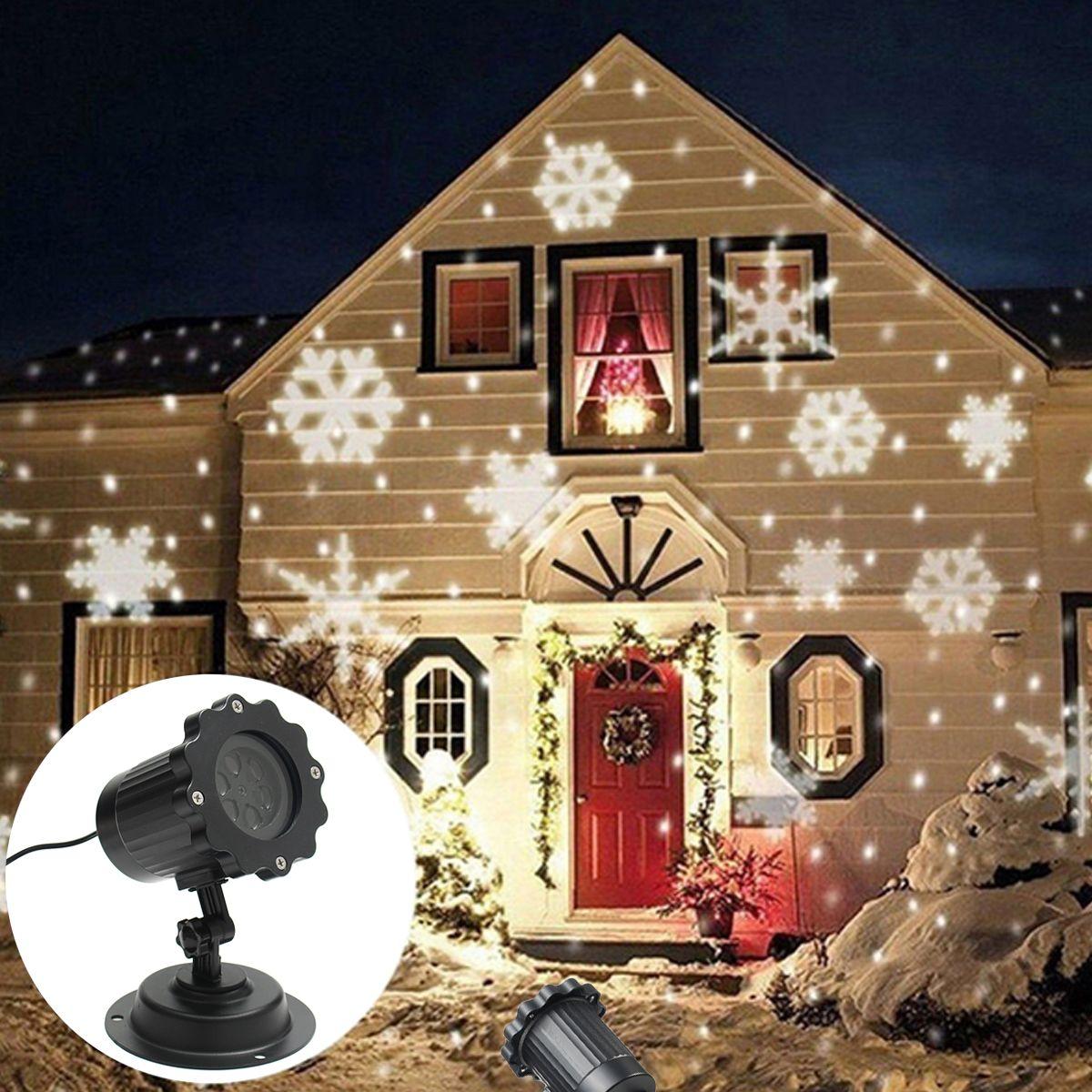 Proiettore Luci Natale Bianche.Proiettore Di Luce Laser Bianco Per Esterni A Led In Movimento Di Natale Led Eu Us Au Uk 100 240v Impermeabile 4 Luci A Led Illuminazione