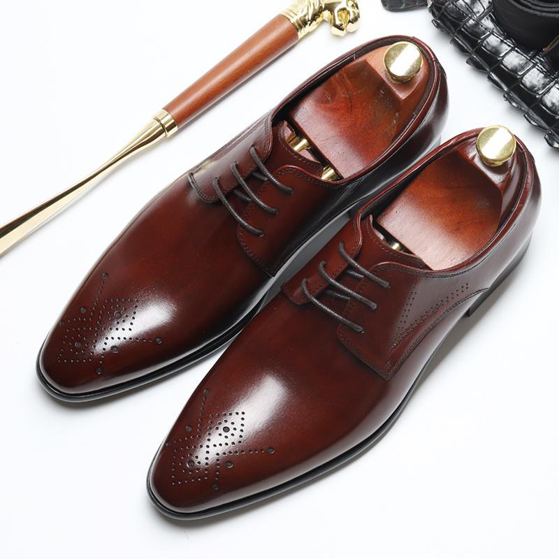 Acquista Scarpe Derby Formali Da Ufficio Traspiranti Uomo Scarpe Da Uomo  Stile Inglese Inghilterra Da Uomo In Pelle Originale Con Lacci A  102.58  Dal ... cf48a306c99