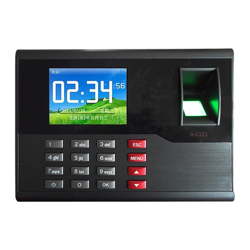 A-C121 TCP/IP Biometric Fingerprint Time Clock Recorder Attendance Employee  Electronic Punch Reader Machine Realand with 2 8