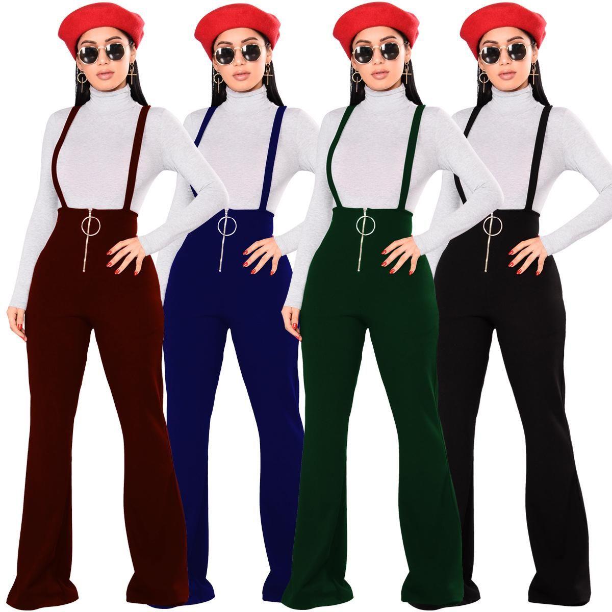01e94064965da Acquista Tuta Intera Da Donna Casual Stile 2019 Tuta Intera Tuta Da Donna  Sexy Con Zip Ampia E Pantaloni Bootcut A  18.46 Dal Hot clothings