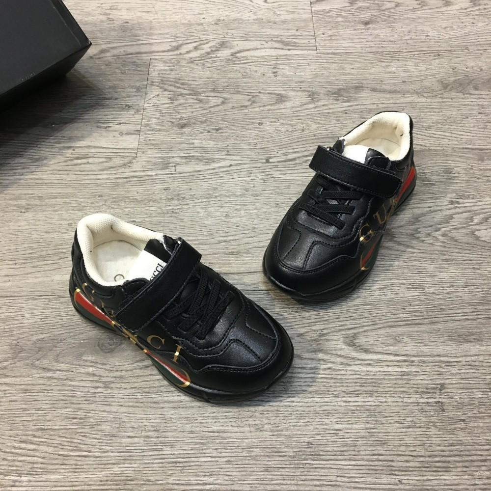 Boys and girls shoes children shoes classic style side letter red and green ribbon splicing pattern kids shoes top quality