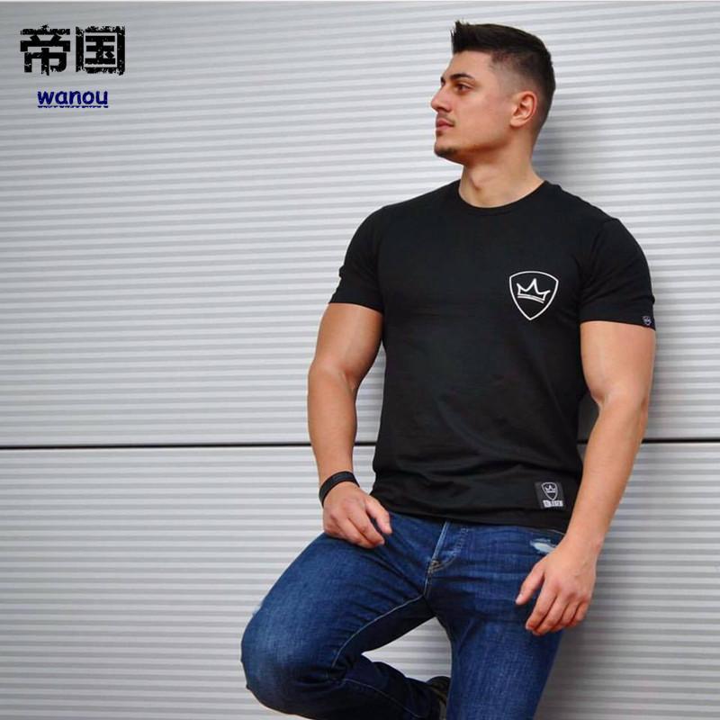 Laufs-t-shirts 2018 Quick Dry Lauf Tees Männer Gedruckt T-shirts Kompression Shirt Tops Bodybuilding Fitness Oansatz Kurzarm Männlichen T Hemd Sportbekleidung