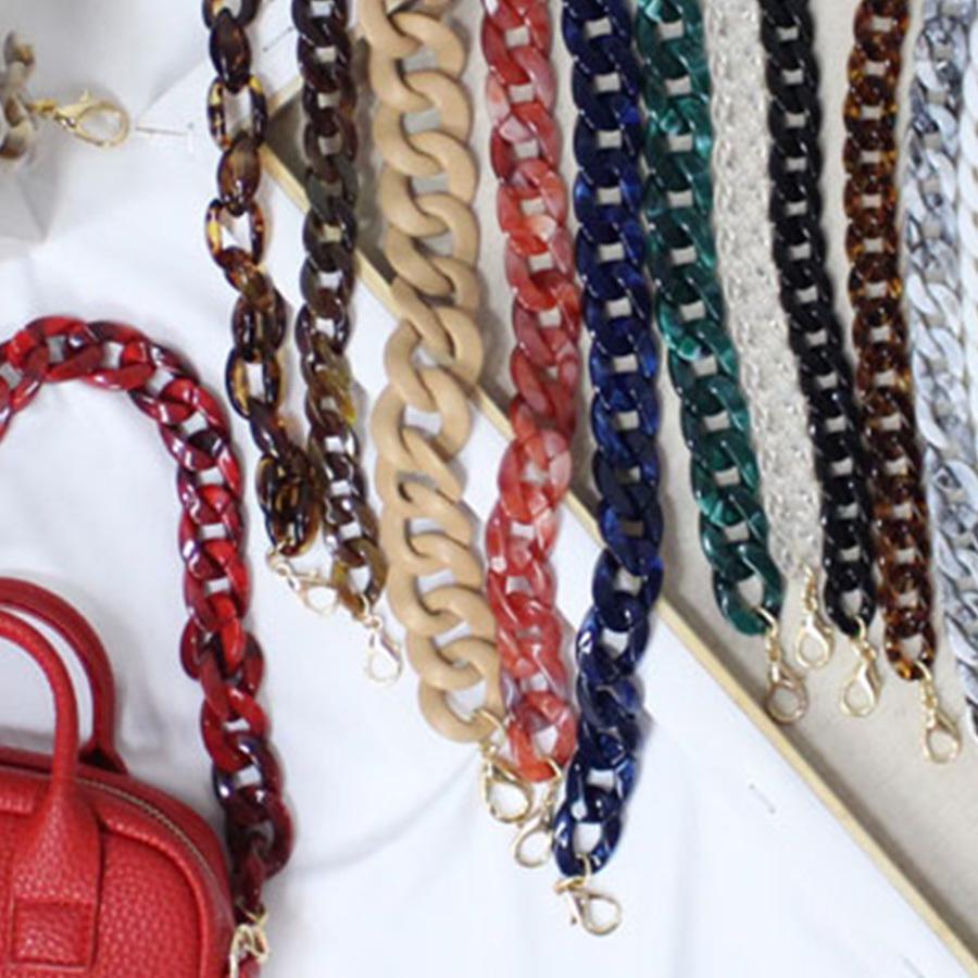 c913885048dd9 Luxury Resins Acrylic Bag Strap Women Shoulder Strap Acrylic You Purse Belt  Brands Resins Handbag Accessories Detachable Design Online with   31.62 Piece on ...