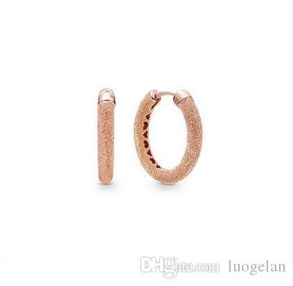 a8cd14964c5 2019 2019 Spring Earrings 925 Sterling Silver Rose Gold Shines Matte Hoop  Earrings For Women European Style Jewelry Original Fashion From Luogelan,  ...