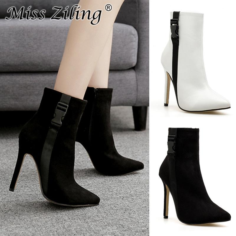 017a88304e1 Sexy2019 Wish Foreign Ma am Short Boots Autumn And Pattern Sharp Fine Super  High With Shoe Will 42