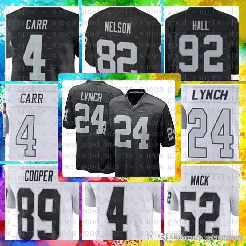 1779ea8ba Top Sale 4 Derek Carr 24 Marshawn Lynch Oakland Jersey Raiders 34 Bo ...