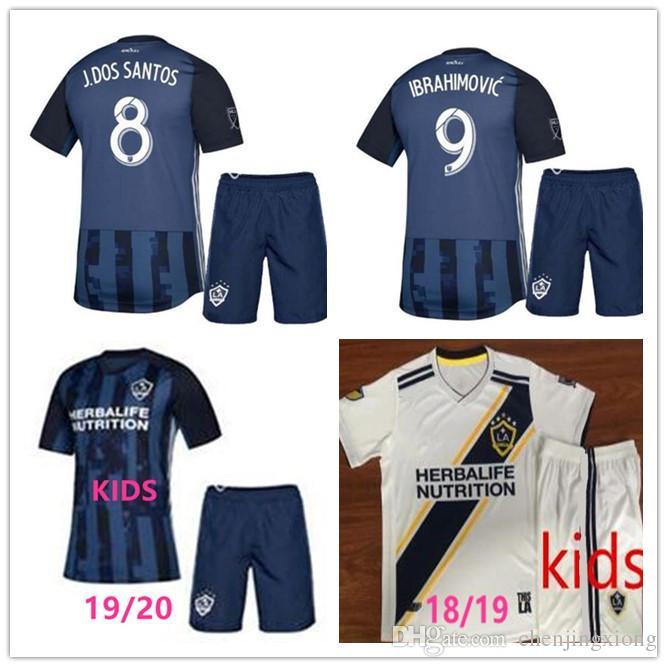 3426affd6 2019 KIDS 2019 La Galaxy Zlatan IBRAHIMOVIC Home Away Jersey Kit19 20 KIDS LA  Galaxy Blue GIOVANI J.DOS SANTOS Football Shirt Kit From Chenjingxiong