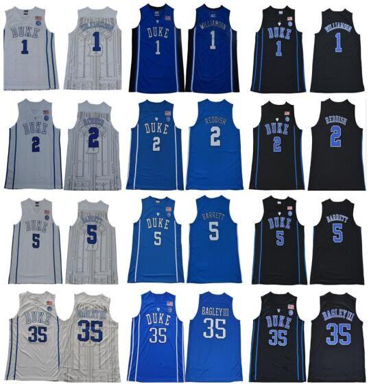 5b2056a32473 2019 2018 2019 Duke Blue Devils NCAA College Jersey 1 Zion Williamson 2 Cam Reddish  5 RJ Barrett 35 Marvin Bagley III 34 Carter Jr. Jersey From Jerseysword