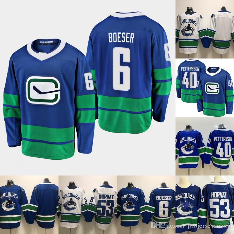 uk availability 4cc52 1c9cf 2019 -20 Mens 6 Brock Boeser Jersey Vancouver Canucks Elias Pettersson Bo  Horvat Daniel Sedin Henrik Sedin Hockey Jerseys Cheap