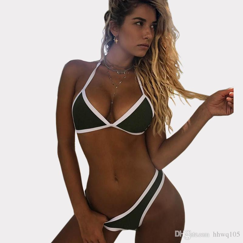 7696b5faa55 2019 New Triangle Bikini Set Women Sexy Swimsuit Swimwear Strappy Micro  Bikini Bohemian Beachwear Bathing Suits African Bikinis CCH0117 From  Hhwq105, ...