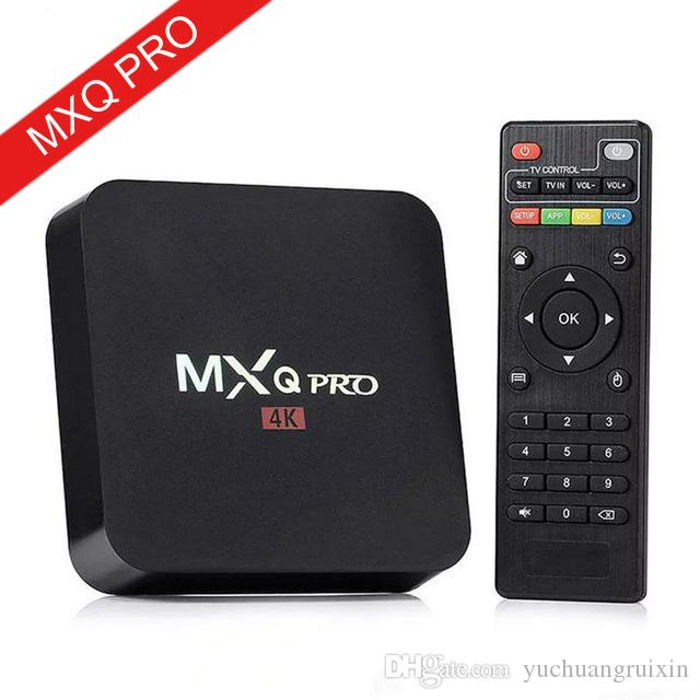 Hot MX2 MXQ PRO Android 7.1 TV BOX Amlogic S905W Quad Core Smart Tv Box With Customized 18.1 4K Media Player