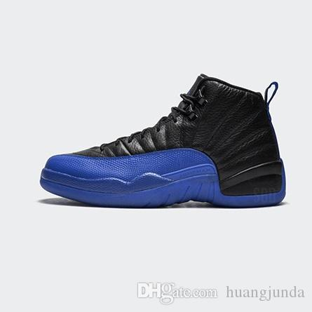 finest selection 84f1d 74650 Mens cheap aj retro 12s basketball shoes Game Royal Blue Black Yellow youth  kids high top air flights j12 jumpman sneakers boots with box