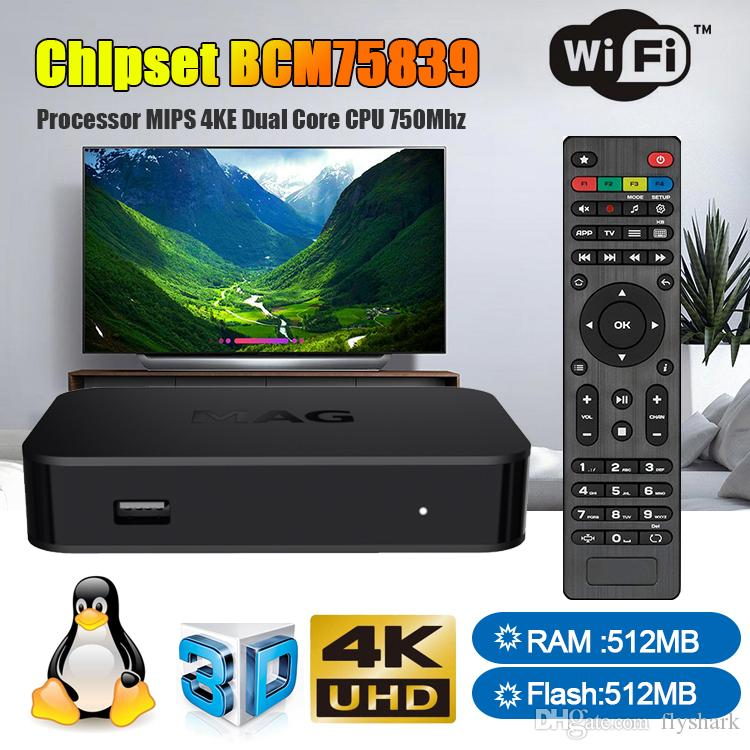 New Firmware MAG322 Chipset BCM75839 Linux 3 3 System Wireless Antenna Set  Top Box Streaming Linux TV Box 512MB RAM Media Player