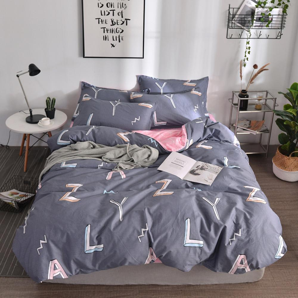 Großhandel Papamima Bettwäsche Set Buchstaben Muster Geometrische