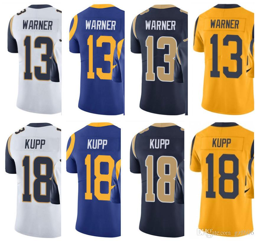 detailed look 08977 93761 St. Louis Men Women Youth Rams Jersey #13 Kurt Warner 18 Cooper Kupp  Limited Rush Jerseys