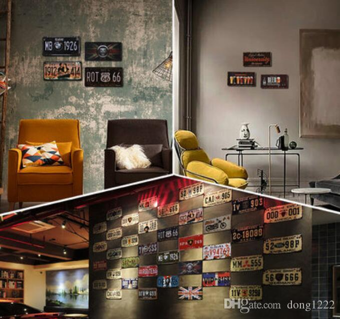 Decorations Murales De Fer Retro Americain Bar Cafe Vetements Magasin Decoration Murale Loft Style Industriel Retro